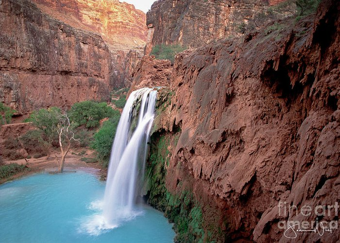 Waterfalls Greeting Card featuring the photograph Havasu Falls by Joanne West