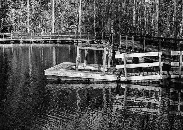 35mm Film Greeting Card featuring the photograph Hawk Island Michigan Dock by John McGraw