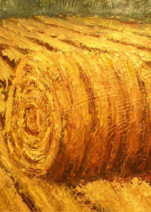Art Sale Greeting Card featuring the painting Haybale II by Jaylynn Johnson