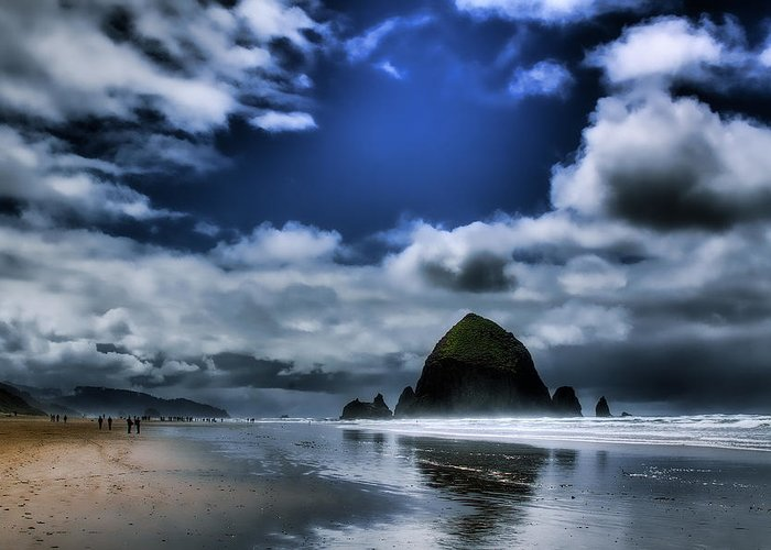 Cannon Beach Greeting Card featuring the photograph Haystack Rock by David Patterson