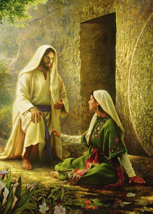 Jesus Greeting Card featuring the painting He Is Risen by Greg Olsen