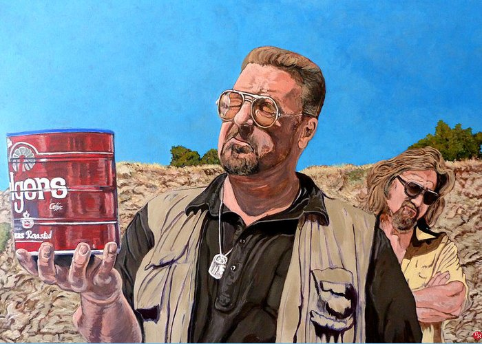 Walter Greeting Card featuring the painting He Was One Of Us by Tom Roderick