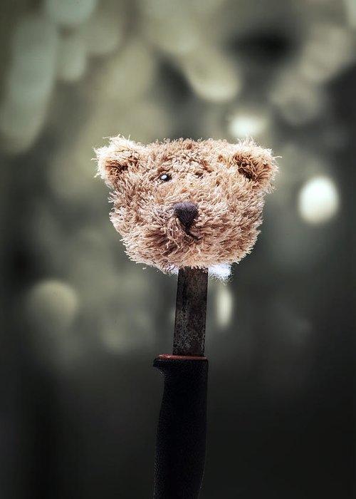 Head Greeting Card featuring the photograph Head Of A Teddy by Joana Kruse