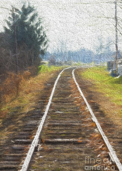 Railroad Greeting Card featuring the photograph Heading Home by Thomas Staff