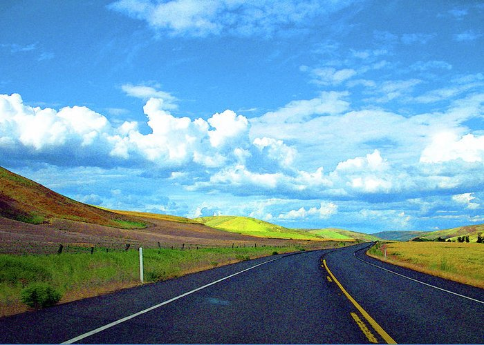 Palouse Greeting Card featuring the photograph Heading Toward The Palouse by Margaret Hood