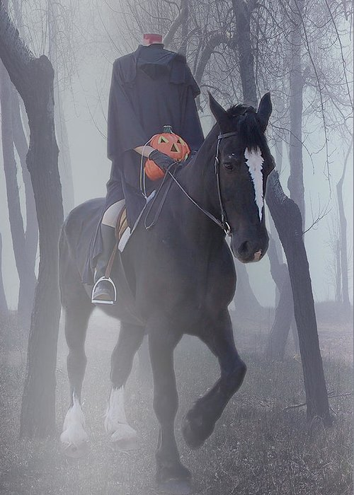 Halloween Greeting Card featuring the photograph Headless Horseman by Christine Till
