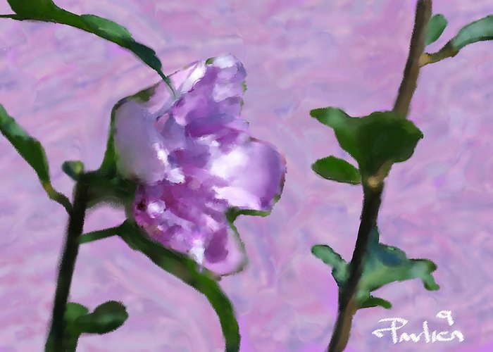 Floral Greeting Card featuring the digital art Heal Me On Mornings Dew by Donald Pavlica
