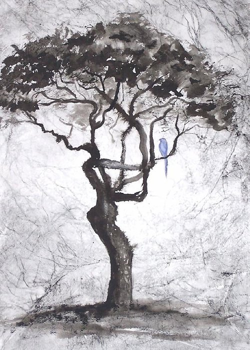 Trees Greeting Card featuring the painting Healing by Ilona Petzer