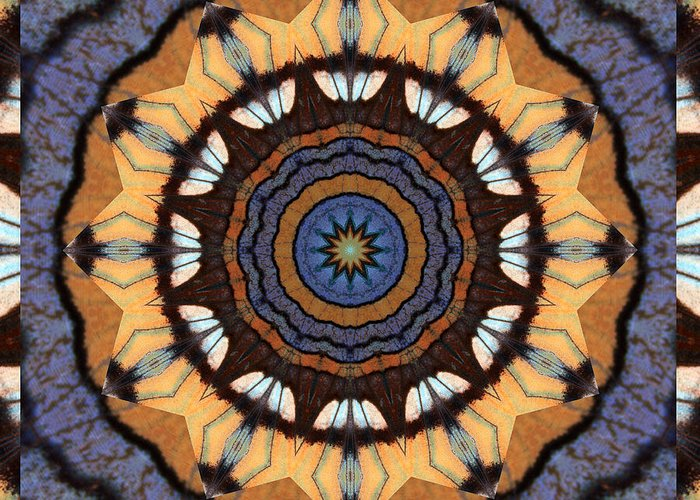 Yoga Art Greeting Card featuring the photograph Healing Mandala 16 by Bell And Todd