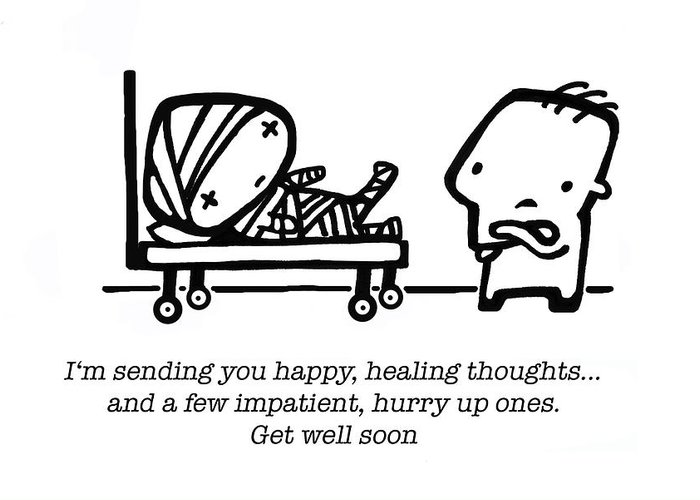 Healing Greeting Card featuring the drawing Healing Thoughts by Leanne Wilkes