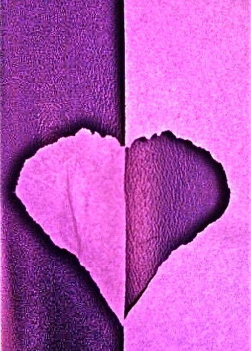 Heart Greeting Card featuring the photograph Heart 2 by Nola Starr