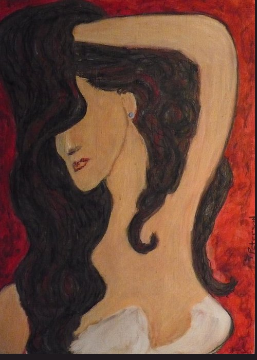Painting Greeting Card featuring the painting Heart Breaker by Todd Peterson