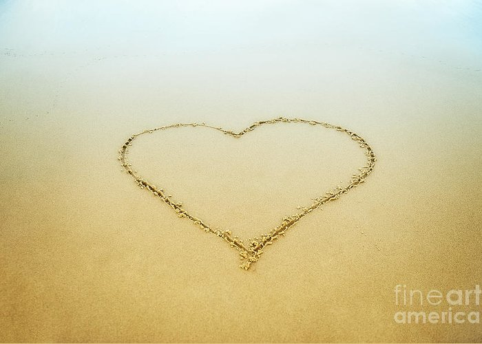 Beach Greeting Card featuring the photograph Heart by John Greim