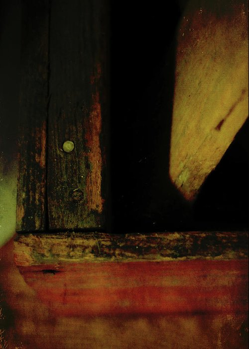 Old Greeting Card featuring the photograph Heart Of Darkness And Light by Rebecca Sherman