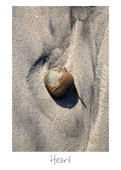 Beach Art Greeting Card featuring the photograph Heart by Peter Tellone