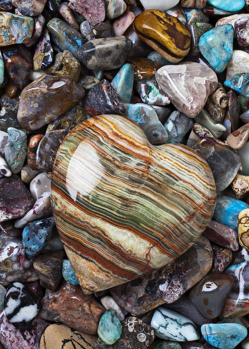 Heart Rocks Greeting Cards