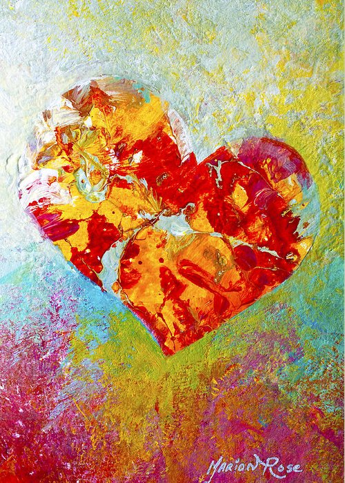 Heartfealt Greeting Card featuring the painting Heartfelt I by Marion Rose