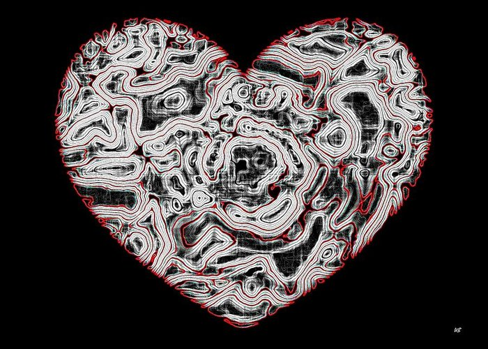 Heart Greeting Card featuring the digital art Heartline 1 by Will Borden
