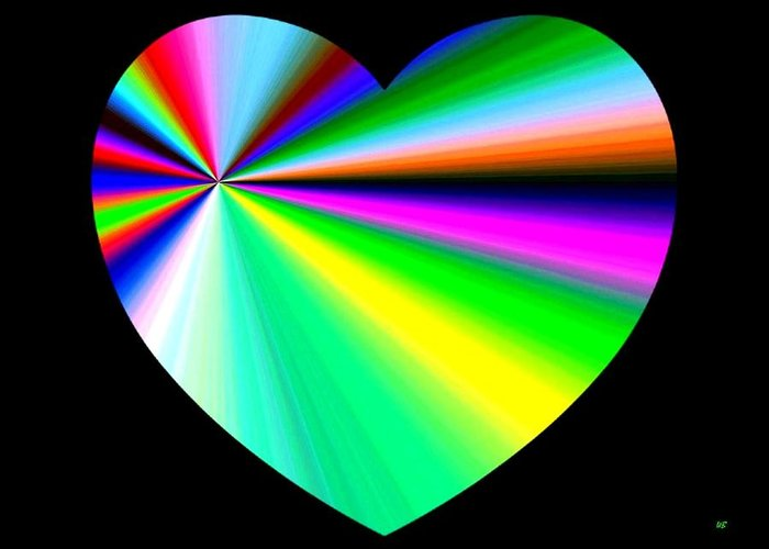 Heart Greeting Card featuring the digital art Heartline 3 by Will Borden