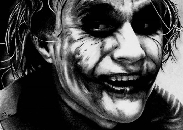 Heath Ledger Joker Greeting Card