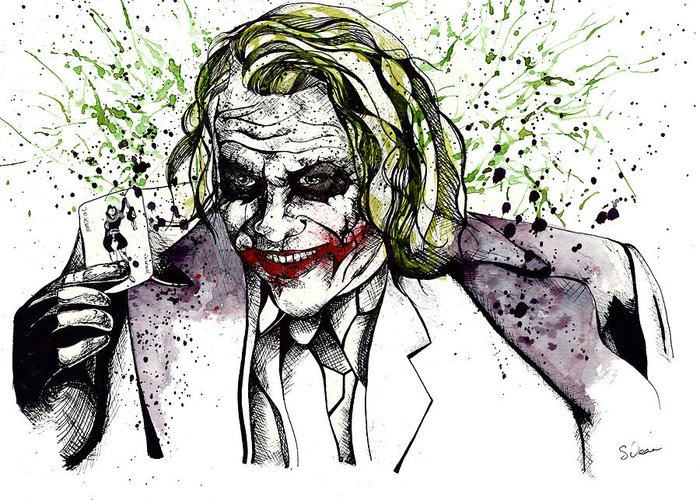 Heath Ledger Joker Greeting Card
