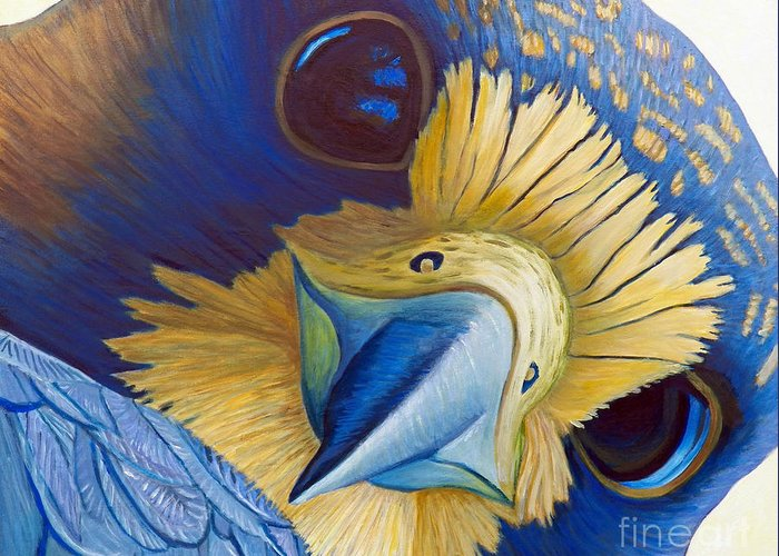 Peregrine Falcon Greeting Card featuring the painting Heaven And Earth by Brian Commerford