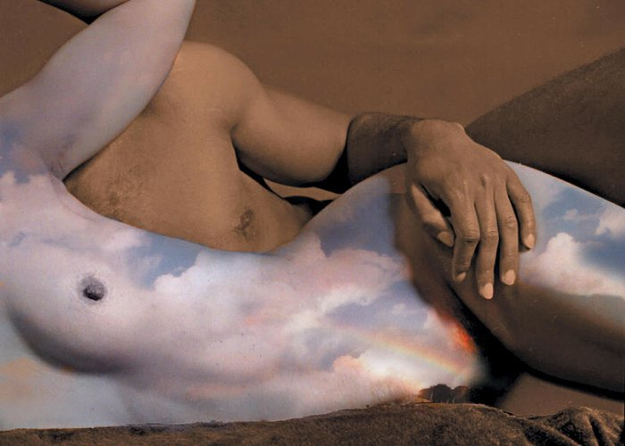 Nudes Greeting Card featuring the photograph Heaven And Earth by Fern Logan