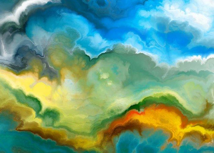 Beautiful Sky Digital Art Greeting Cards