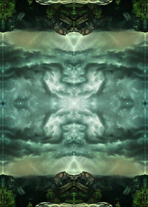 Intdimensional Greeting Card featuring the digital art Heavenly Doorways by Filip Klein
