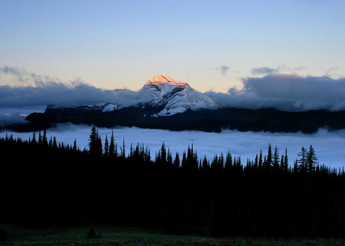 Landscape Greeting Card featuring the photograph Heaven's Peak by Dave Hampton Photography
