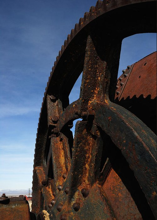 Landscape Greeting Card featuring the photograph Heavy Machinery by Werner Rolli