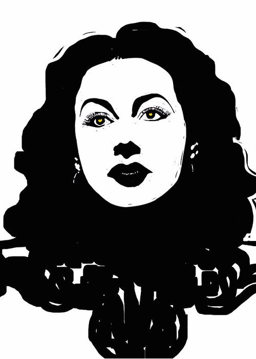 Hedy Lamarr Greeting Card featuring the painting Hedy - Touching The Sublime by Rob Prince