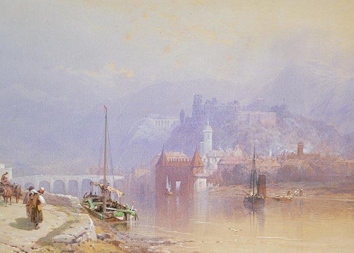 Heidelberg Greeting Card featuring the painting Heidelberg by Thomas Miles Richardson