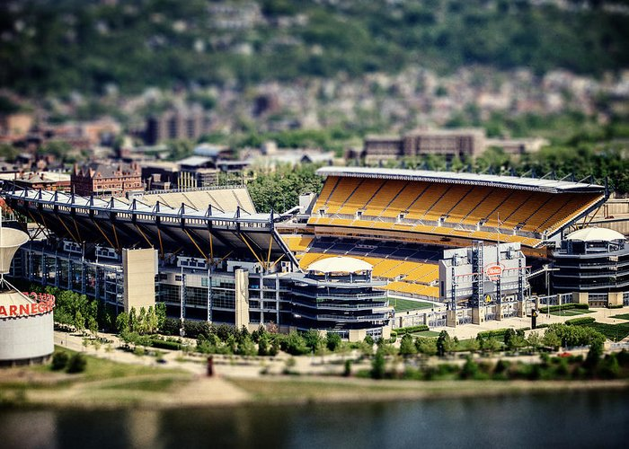 Heinz Field Greeting Card featuring the photograph Heinz Field Pittsburgh Steelers by Lisa Russo