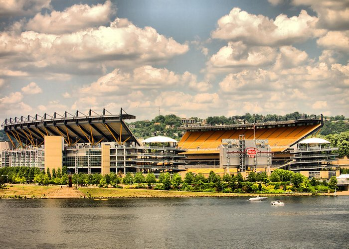 Heinz Field Greeting Card featuring the photograph Heinz Hdr by Arthur Herold Jr