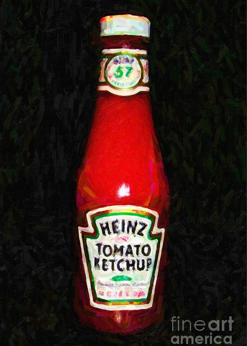 Wingsdomain Greeting Card featuring the photograph Heinz Tomato Ketchup by Wingsdomain Art and Photography