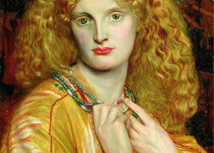 Helen Greeting Card featuring the painting Helen Of Troy by Dante Charles Gabriel Rossetti