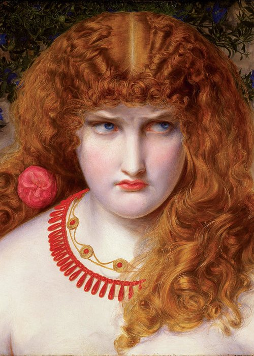 Helen Greeting Card featuring the painting Helen Of Troy by Frederick Sandys-Walker