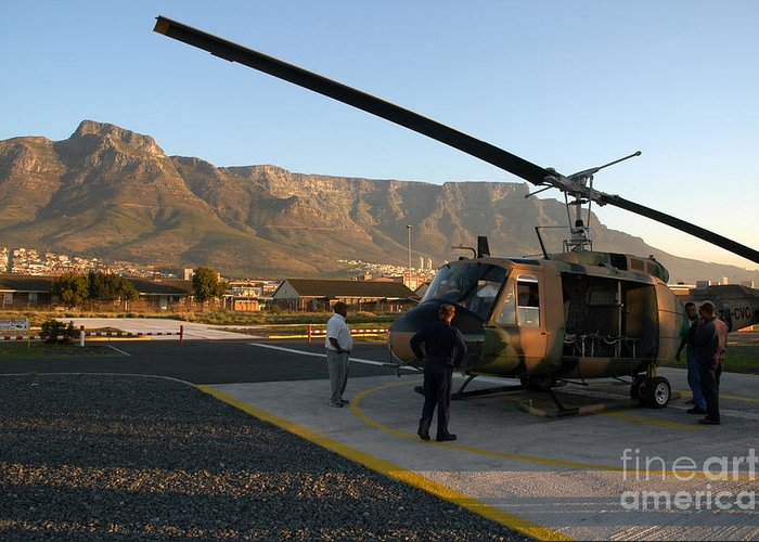 Cape Town Greeting Card featuring the photograph Helicopter Tours Of Cape Town And Table Mountain by Andy Smy