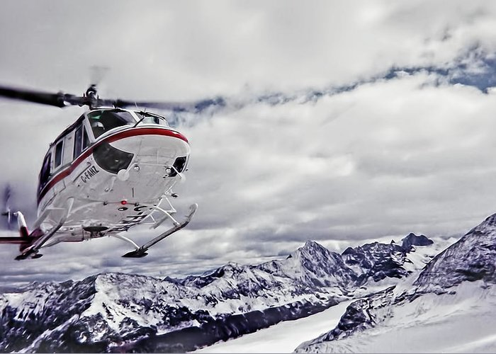 Helihiking Greeting Card featuring the photograph Helihiking In The Canadian Rockies by Kay Brewer