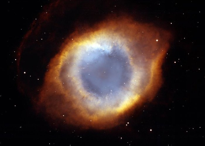 Helix Greeting Card featuring the photograph Helix Nebula, Hst Image by Nasaesastscit.rector, Nrao