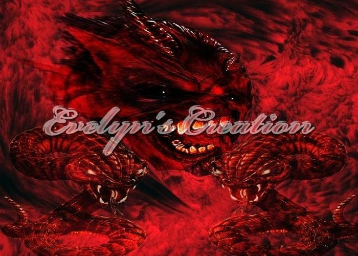 Digital Art Greeting Card featuring the digital art Hell Demon by Evelyn Patrick