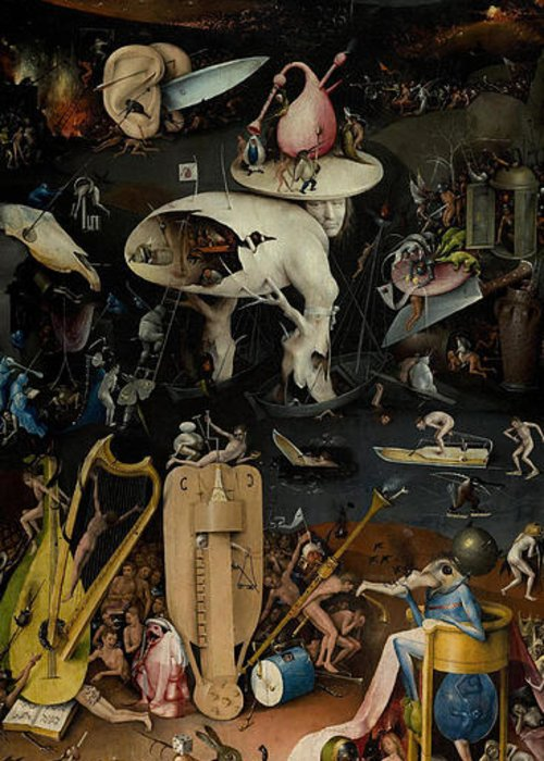 Hell The Garden Of Earthly Delights Greeting Card