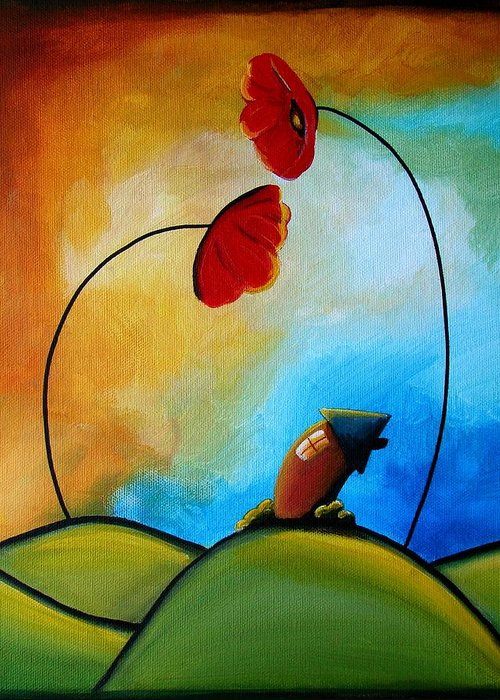 House Greeting Card featuring the painting Hello by Cindy Thornton