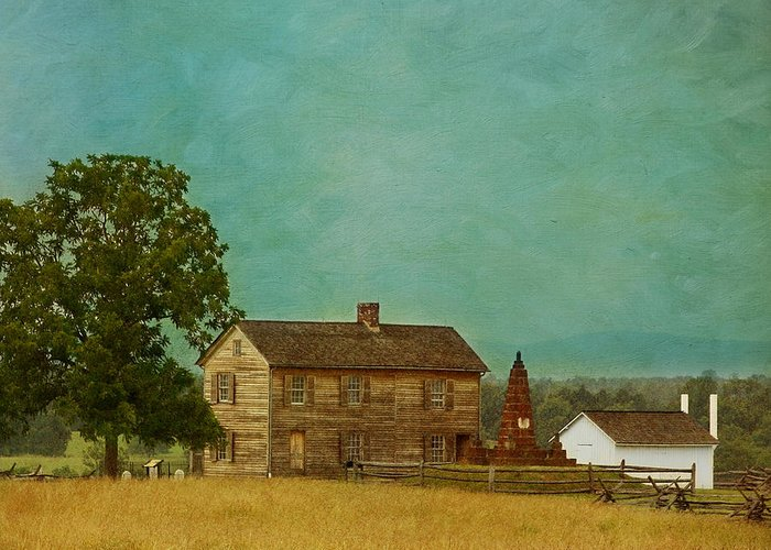 Henry House Greeting Card featuring the photograph Henry House At Manassas Battlefield Park by Kim Hojnacki