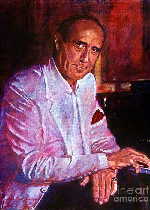 Henry Mancini Greeting Card featuring the painting Henry Mancini by David Lloyd Glover