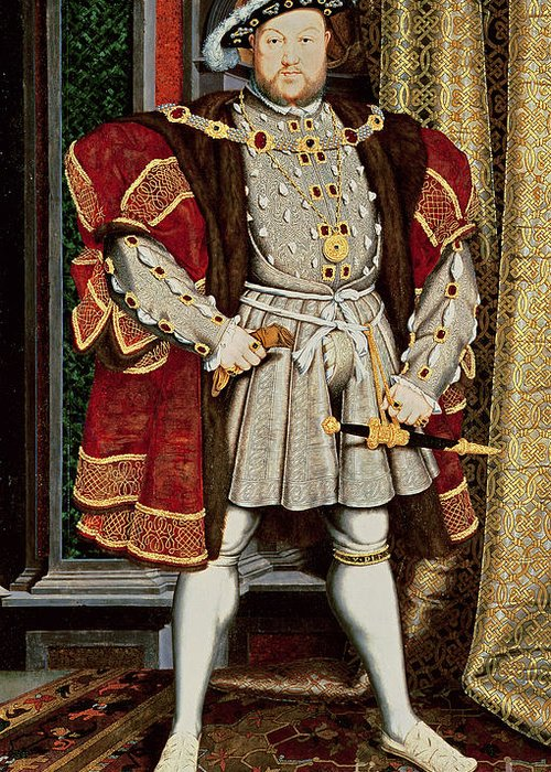 Henry Viii Greeting Card featuring the painting Henry Viii by Hans Holbein the Younger