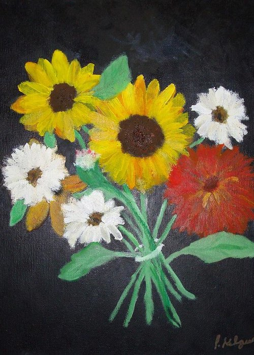 Daisy Greeting Card featuring the painting Her Favorite Bouquet by Pamela Kilgus