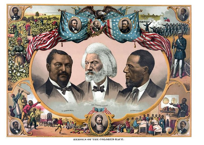 Black History Greeting Card featuring the painting Heroes Of African American History - 1881 by War Is Hell Store