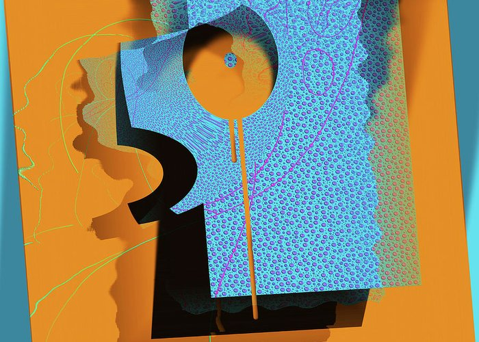 Abstract Digital Art Greeting Card featuring the digital art Hidden Behind Shadows by Carola Ann-Margret Forsberg